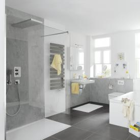 HSK Pro Walk In glass element with wall profile TSG light clear / chrome look
