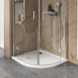HSK Marmor-Polymer quadrant shower tray, super flat white