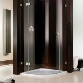 HSK quadrant shower tray, super flat white, with AntiSlip coating, without panel