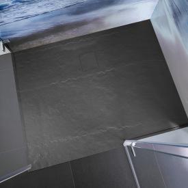 HSK Receveur de douche rectangulaire, en polymère effet roche, extra plat anthracite