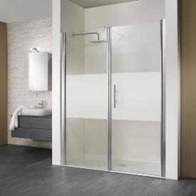 HSK Marmor-Polymer square / rectangular shower tray, floor-level white