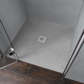 HSK RenoDeco rectangular shower tray with point drain ash grey