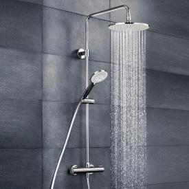 HSK RS 100 thermostat shower set with flat overhead shower