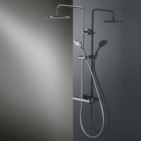 HSK RS 200 thermostat shower set with flat overhead shower