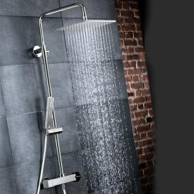HSK RS 500 shower set with thermostat and flat overhead shower