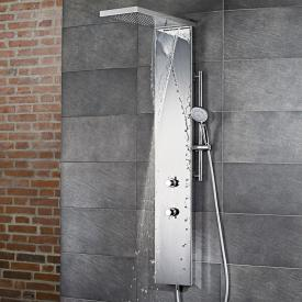 HSK shower column Lavida Plus with cascade function polished stainless steel/white glass front
