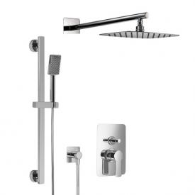 HSK Softcube shower set 2.25 w. overhead shower W:400 H:2 D:250 mm, w. straight wall arm