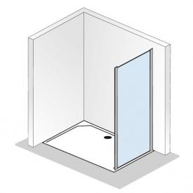 HSK Solida side panel for sliding door with fixed panel TSG light clear with shield coating / matt silver