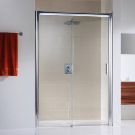 HSK Solida sliding door in recess, floor-level clear light shield coating / chrome, STIM 117.0-121.0