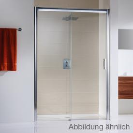HSK Solida sliding door in recess, floor-level clear light shield coating / matt silver, STIM 117.0-121.0