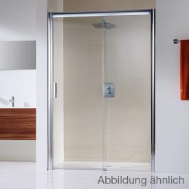 HSK Solida sliding door in recess, floor-level clear light shield coating / matt silver, STIM 117.0-121.0