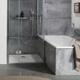 HSK square / rectangular shower tray, floor-level white