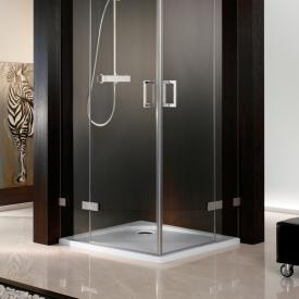 HSK square shower tray, super flat white without panel