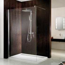 HSK Walk In Atelier front element glass, clear light / chrome look