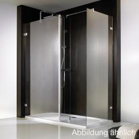 HSK Walk In Atelier Pur shower panel +side part +side panel TSG matt centre shield coating / chrome look