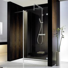 HSK Walk In Atelier Pur shower panel + side part TSG clear light / chrome look