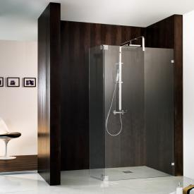HSK Walk In Atelier Pur shower panel + swivel side part TSG clear light shield coating / chrome look