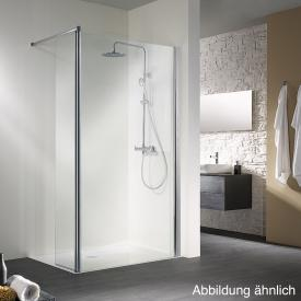 HSK Walk In Easy 1 front element with swivelling side part light clear shield coating / chrome look