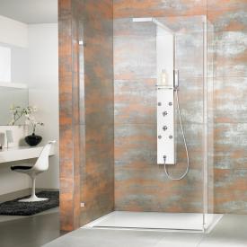 HSK Walk In Lavida shower panel for corner + side part TSG clear light / chrome look
