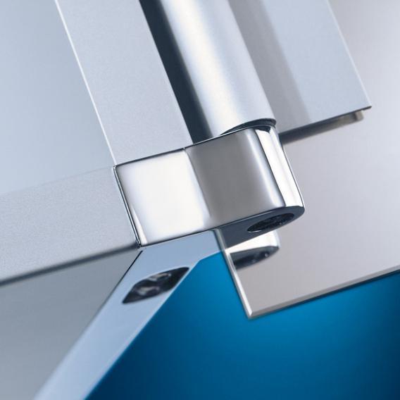HSK ASP 300 LED aluminium mirror cabinet hinged right
