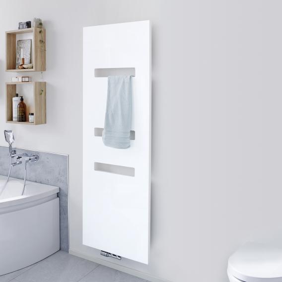 HSK Atelier Highline bathroom radiator metal front, matt white