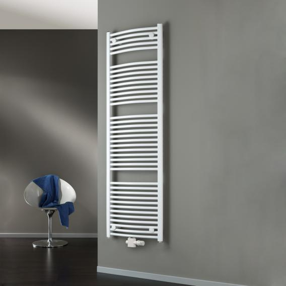 HSK Line Round bathroom radiator with centre connection white