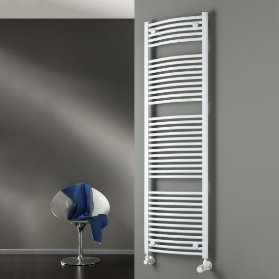 HSK bathroom radiator LINE ROUND with standard connection white