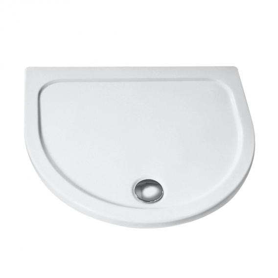 HSK D-shape shower tray, super flat white without panel