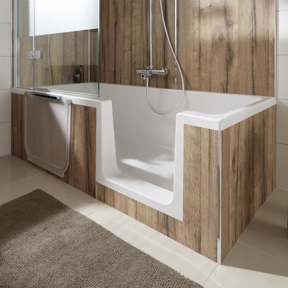 HSK Dobla rectangular bath with shower zone