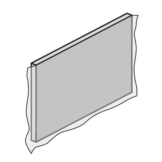 HSK Dobla side panel, W: 75 cm