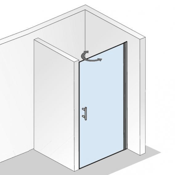 HSK Favorit Nova pivot door for recess TSG light clear / matt silver