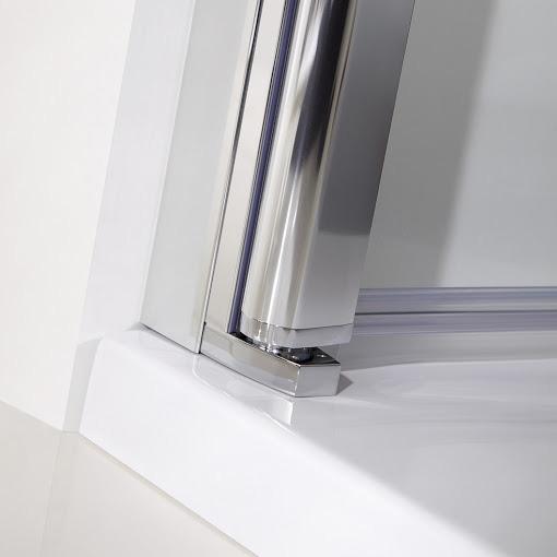 HSK Favorit Nova swing door for side panel clear light / matt silver, STIM 88.5-92.5