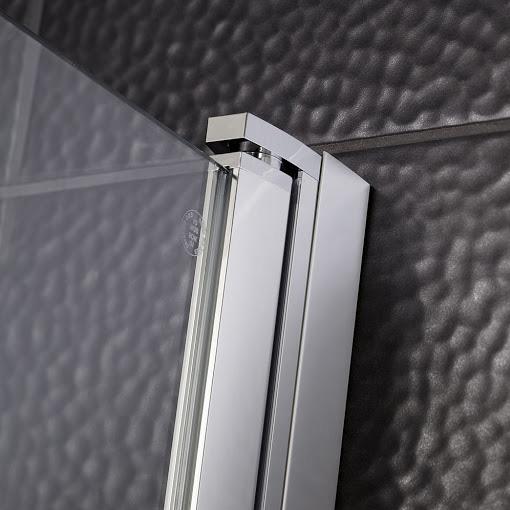 HSK Favorit Nova swing door in recess clear light / matt silver, STIM 88.0-91.5