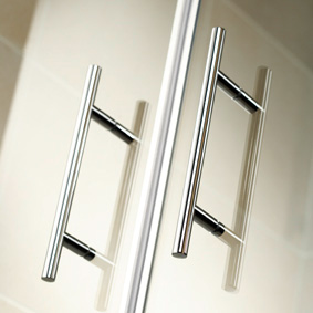 HSK Favorit sliding door quadrant TSG clear light / matt silver