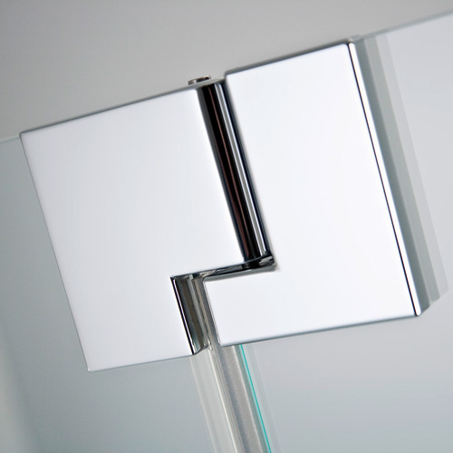 HSK K2 hinged door with fixed panel and side panel TSG light clear / chrome look