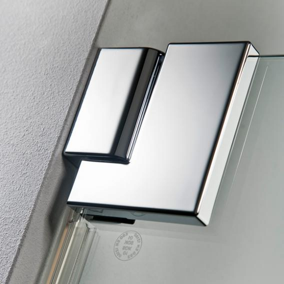HSK K2 hinged door with side panel TSG light clear with shield coating / chrome look