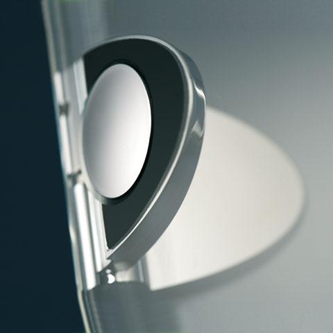 HSK Premium Classic hinged door corner entry 4-part TSG light clear / chrome look
