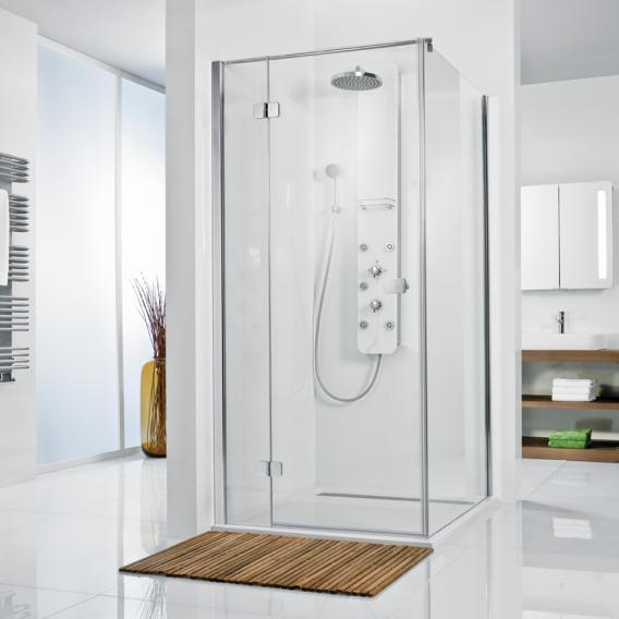 HSK Premium Softcube hinged door for side panel TSG clear light shield coating / chrome look