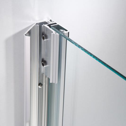 HSK Premium Softcube pentagonal hinged door 3-part TSG light clear / chrome look