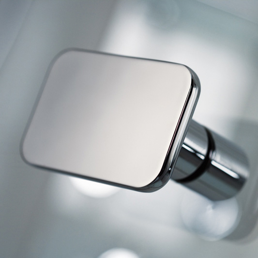 HSK Premium Softcube quadrant hinged door 3-part TSG light clear with shield coating / chrome look