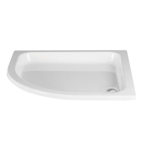 HSK quadrant shower tray, flat white without panel