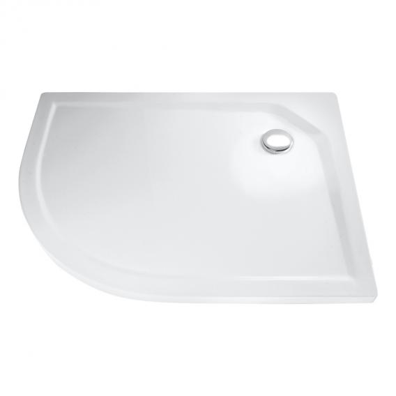 HSK quadrant shower tray, super flat white, without panel
