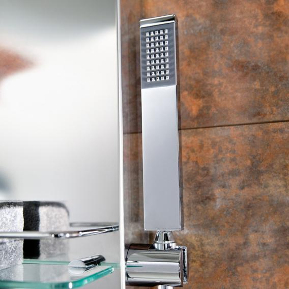 HSK shower panel Lavida shortened W: 210 H: 1600 D: 670 mm free hanging rain traverse polished stainless steel
