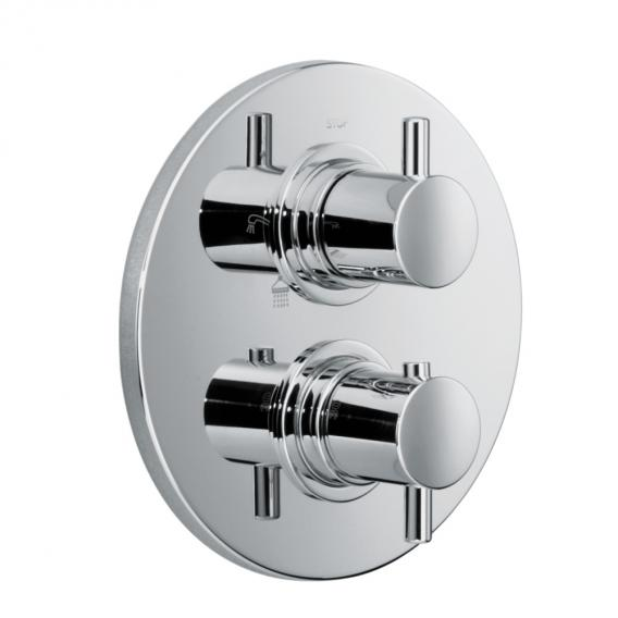HSK shower set 1.04 w. concealed thermostat, overhead shower Ø 250 H: 8mm wall arm