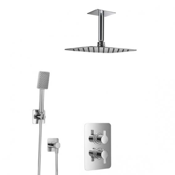HSK Softcube shower set 2.04 with overhead shower W: 550 H: 2 D: 350 mm, with ceiling arm