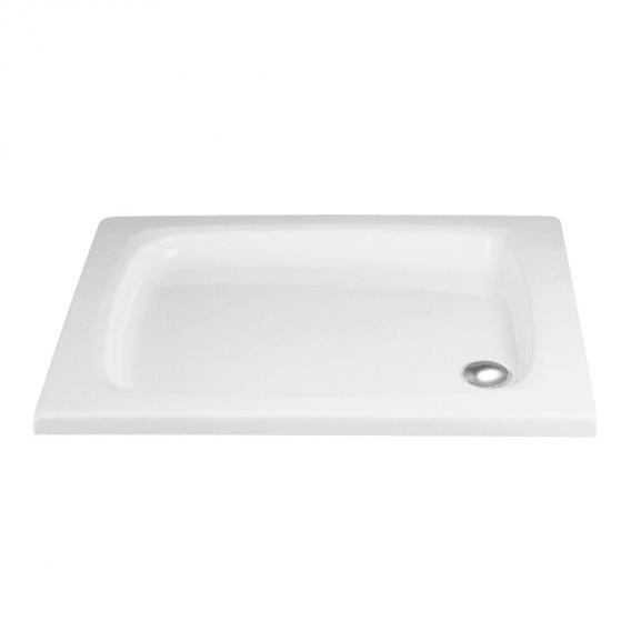 HSK rectangular shower tray, flat white without panel