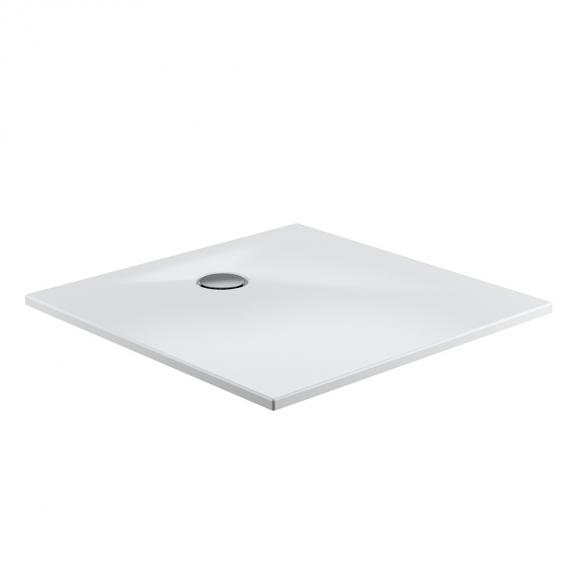 HSK marble-polymer square / rectangular shower tray, floor-level white