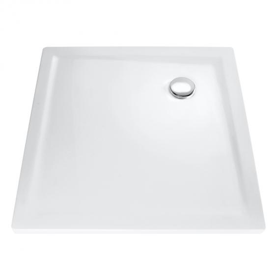 HSK marble-polymer Quadrat shower tray, super flat white without panel