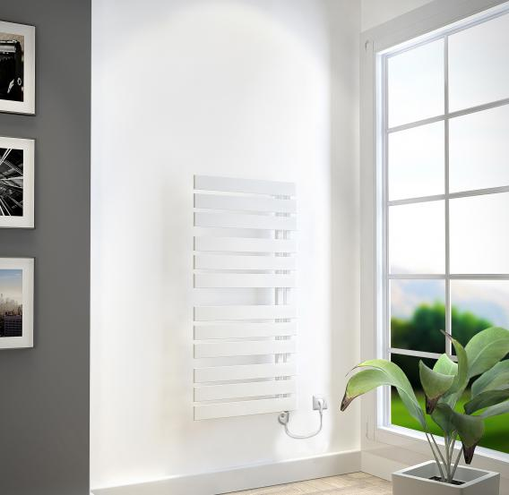 HSK Yenga towel radiator with heating element 2 for all electric operation 600 Watt