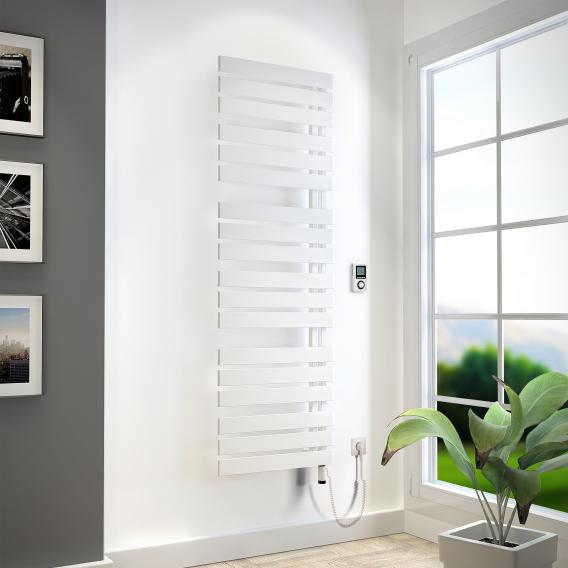 HSK Yenga towel radiator with heating element 4 for all electric operation white, 800 W, white heating element, left version
